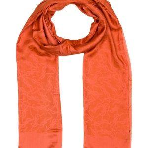 Orange Yves Saint Laurent scarf with print